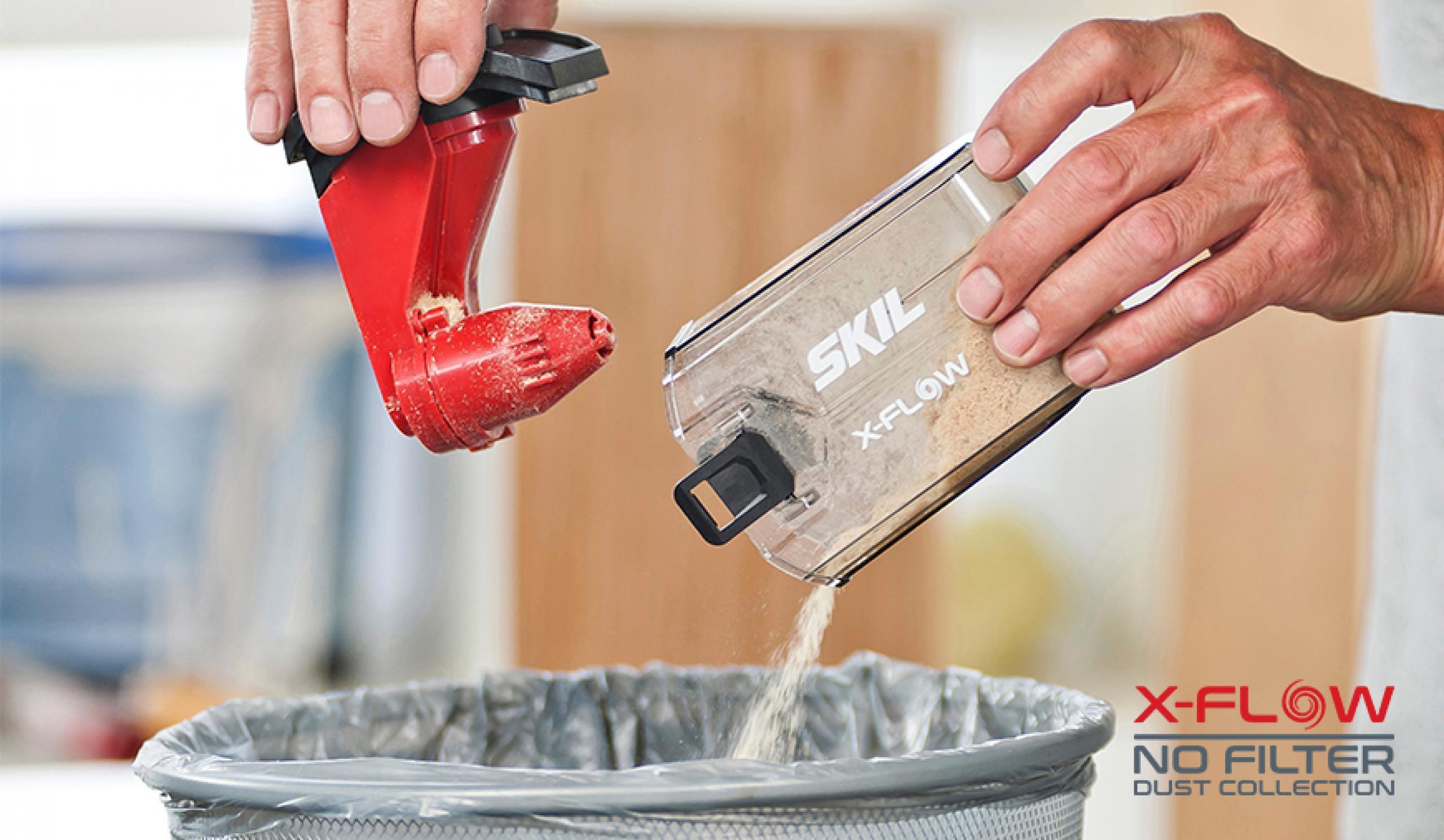 X-Flow omogućava snažno usisavanje prašine bez začepljivanja