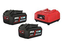 """SKIL 3112 BA Akumulatori (litij-ionski """"20V Max"""" (18 V) 4,0 Ah """"Keep Cool™"""") i punjač"""