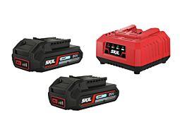 """SKIL Akumulatori (litij-ionski """"20V Max"""" (18 V) 2,0 Ah """"Keep Cool™"""") i punjač"""