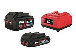 """SKIL Akumulatori (litij-ionski """"20V Max"""" (18 V) 2,0 i 4,0 Ah """"Keep Cool™"""") i punjač"""